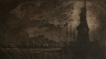 Joseph Pennell, 'Hail, America1 (The Statue of Liberty). ', 1908