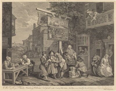 Charles Grignion after William Hogarth, 'Canvassing for Votes', 1757
