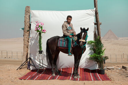 Bryony Dunne, 'Abdu with Gedu (horse), from the series Edge of Giza', 2016