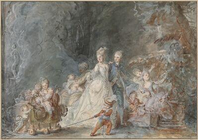Pierre-Antoine Baudouin, 'Family Promenade in the Park', 1765/1766