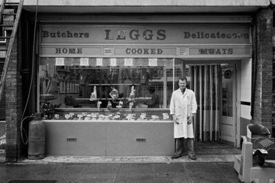 Mike Seaborne (British, born 1954), 'Leggs butchers' shop, Castalia Square shopping precinct, London', 1984-printed 2020