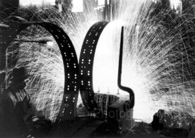 Margaret Bourke-White, 'Welding Tire Rims, International Harvester', 1933