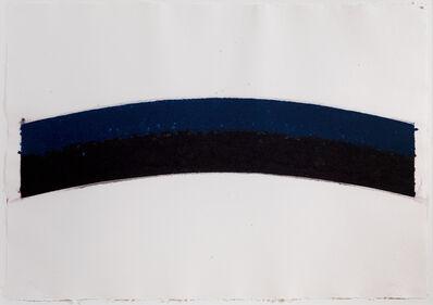 Ellsworth Kelly, 'Colored paper III (Blue Black Curves)', 1976