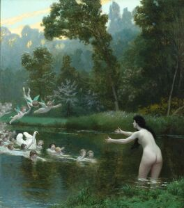 Jean-Léon Gérôme, 'Leda and the Swan', 19th century