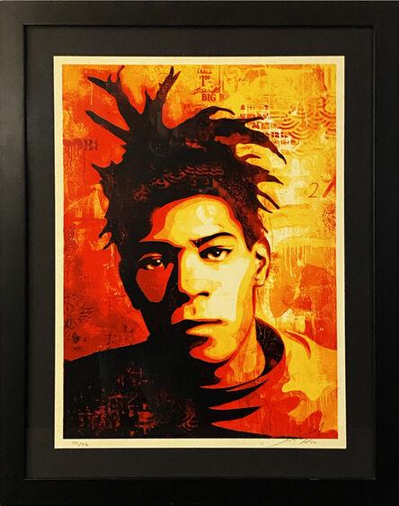Shepard Fairey, ''Basquiat Canvas' (framed)', 2010