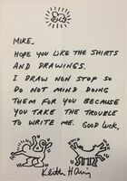 Keith Haring, 'Letter with drawings', ca. 1988