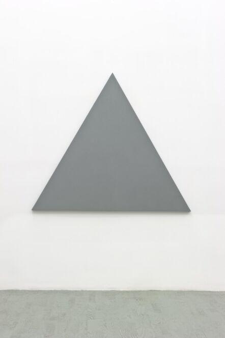 Alan Charlton, 'Triangle painting', 2012