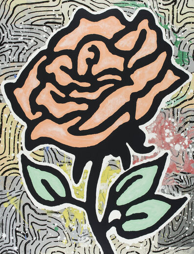 Donald Baechler, 'Peach Rose (Six Roses)', 2015