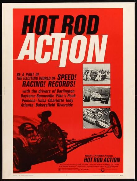 Anon, 'HOT ROD ACTION Thirty by Forty poster '69 the exciting world of speed, drag racing & records!', 1969