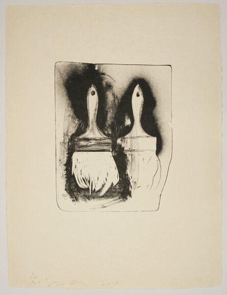 Jim Dine, 'Brushes Drawn on Stone #3', 2010