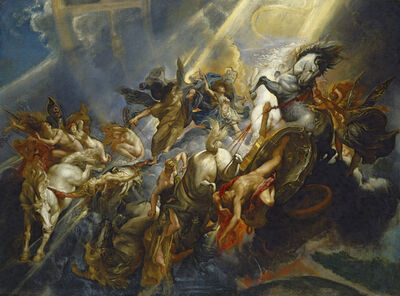 Peter Paul Rubens, 'The Fall of Phaeton', ca. 1604/1605-probably reworked c. 1606/1608