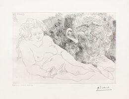 Pablo Picasso, 'Vieux Peintre et Vieux Modele, from the 156 Series', 1969