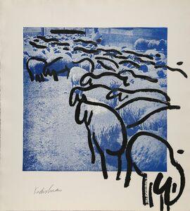 Menashe Kadishman, 'SHEEP Portfolio, 2', 1981