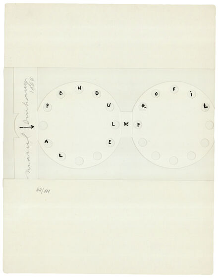 Marcel Duchamp, 'The Clock in Profile. La Pendule de Profil', 1964