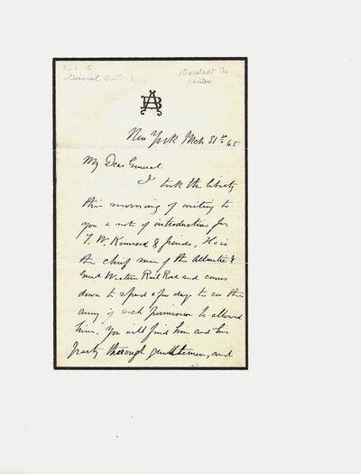Albert Bierstadt, 'Bierstadt Letter', 1965