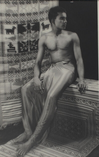 Lionel Wendt, 'Untitled (Man with traditional mat)', ca. 1935