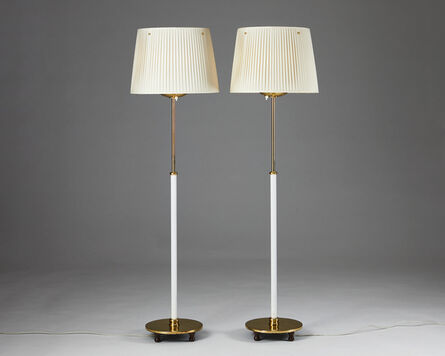 Josef Frank, 'Pair of floor lamps model 2564', 1950-1959