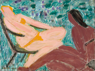 Stephen Pace, 'Sun Bathers, Peach and Brown', 1969