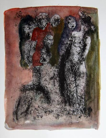 Tasaduq Sohail, 'Untitled (figures in darkness)', Undated
