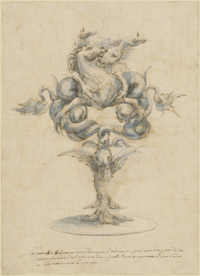 Master of the Medici Banquet Decanters, 'A Wine Decanter with Two Seahorses', 1650s