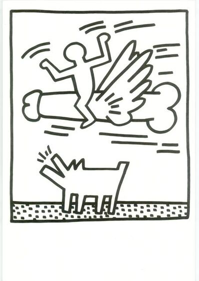 Keith Haring, 'Lithograph from Lucio Amelio's Artist Haring Book (1983)', 1983