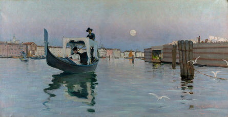 Ralph Wormeley Curtis, 'Return from the Lido', 1884
