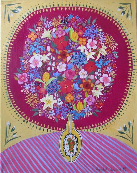 Hepzibah Swinford, 'Flowers in an Art Deco Vase', 2015