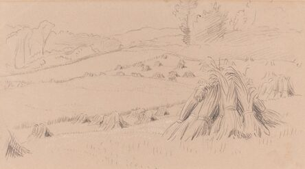 John Linnell, 'The Harvest Field', ca. 1860