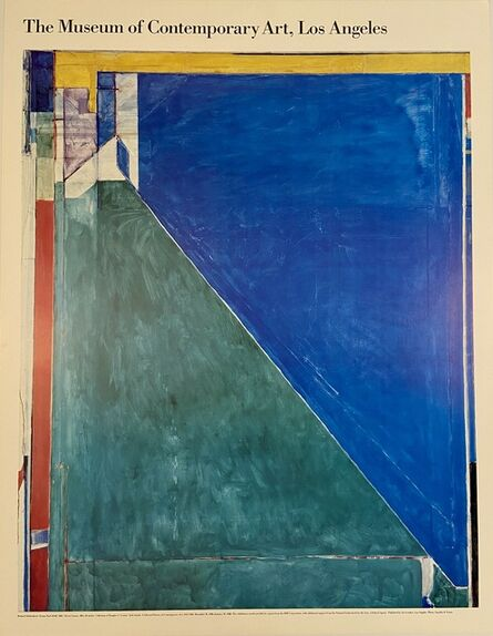 Richard Diebenkorn, 'Richard Diebenkorn, Ocean Park #140 The Musuem of Contemporary Art, Los Angeles Rare Sold Out Lithographic Oversize Museum Exhibition Poster', 1988