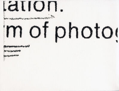 Molly Springfield, 'photographs, graphs, maps', 2014