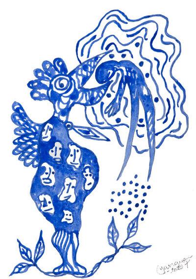 Hervé Yamguen, 'L'oiseau bleu #1', 2020