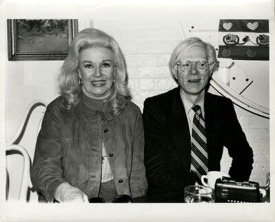 Andy Warhol, 'Andy Warhol, Photograph with Ginger Rogers circa 1980', ca. 1980