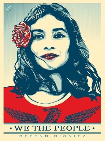 Shepard Fairey, 'WE THE PEOPLE Defend Dignity', 2017