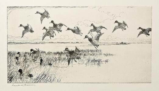 Frank Weston Benson, 'Redheads Coming', 1930
