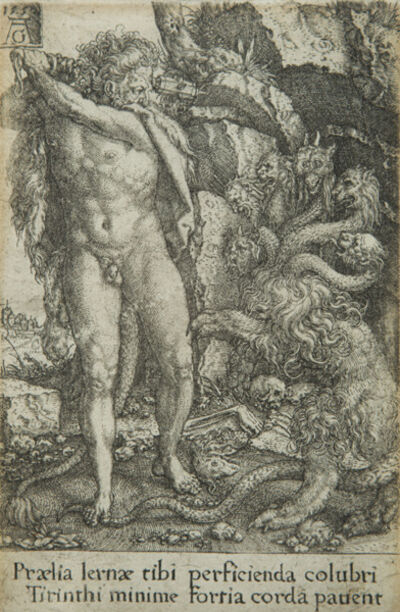 Heinrich Aldegrever, 'Hercules fighting with the Hydra of Lernea, from The Deeds of Hercules', 1550