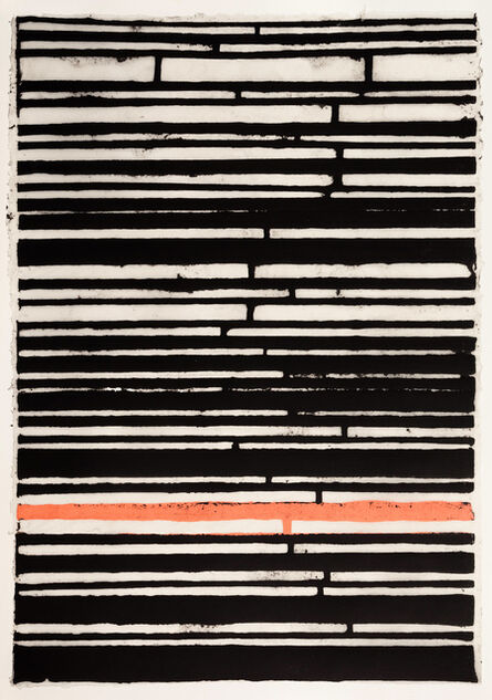 Teresa Cole, 'Black Stripes with Pink One', 2015