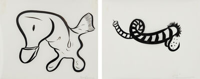 Sue Williams, 'Untitled;and Untitled', 2000