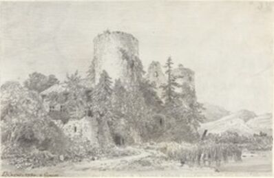 Louis-François Cassas, 'Vue du Chateau de Saconnex', 1780