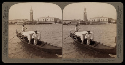 Bert Underwood, 'Venice White swan of cities, Campanile, Doge's Palace and Prison', 1900
