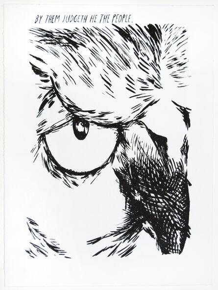 Raymond Pettibon, 'Untitled (By Them Judgeth...)', 2018