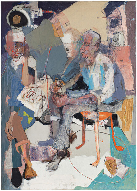 Benny Andrews, 'Janitors at Rest', 1957-1958