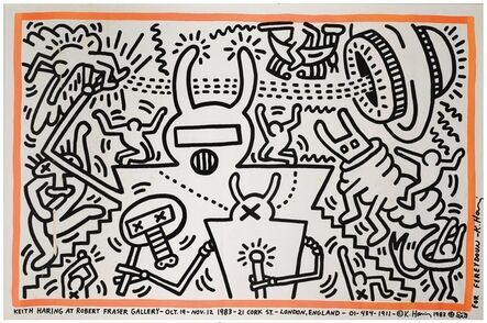 Keith Haring, 'Robert Fraser Gallery Poster', 1983