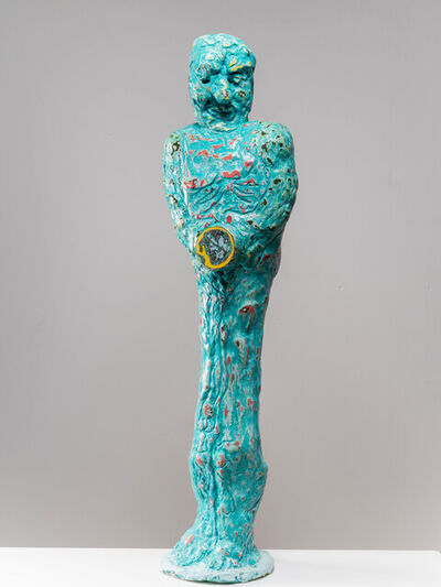 Mark Frygell, 'Figure with Round Box', 2021