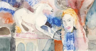 Lotte Berger-Maringer, 'Girl with Horse', 1970