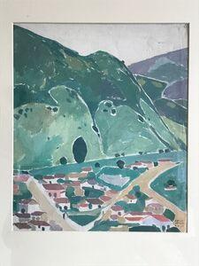 Carlos Merida, 'Alrededores de Quetzaltenango', 1917