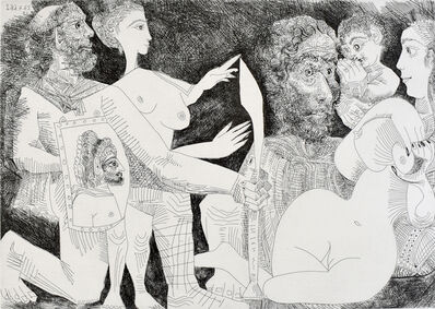 Pablo Picasso, 'Mythological Scene: Perhaps Agamemnon's Lust for Briseis', 1968