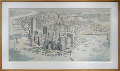 Richard Haas, 'Manhattan View, Battery Park', 1980