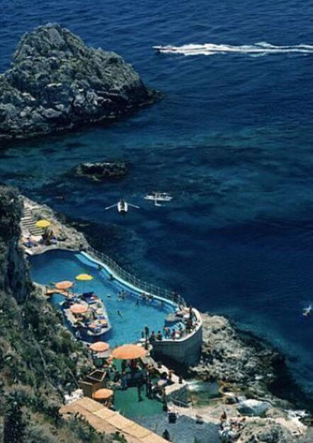 Slim Aarons, 'Hotel Taormina Pool', 1975