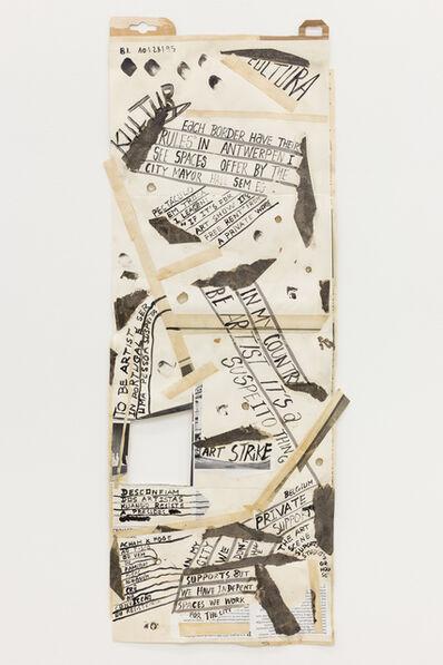 "Carla Filipe, '""Comer papel mastigado - o desejo de compreender o velho continente para cuspir a sua história / Eating chewed paper - the desire to understand the old continent to spit its story"" Untitled 20', 2014"