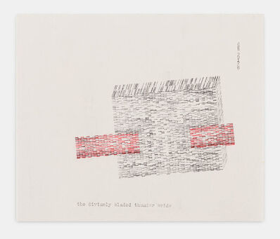Dom Sylvester Houédard, 'the divinely bladed thunder bride 291269', 1969